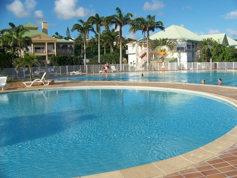 la piscine de 1000m2 avec une pataugeoire pour les tous petits