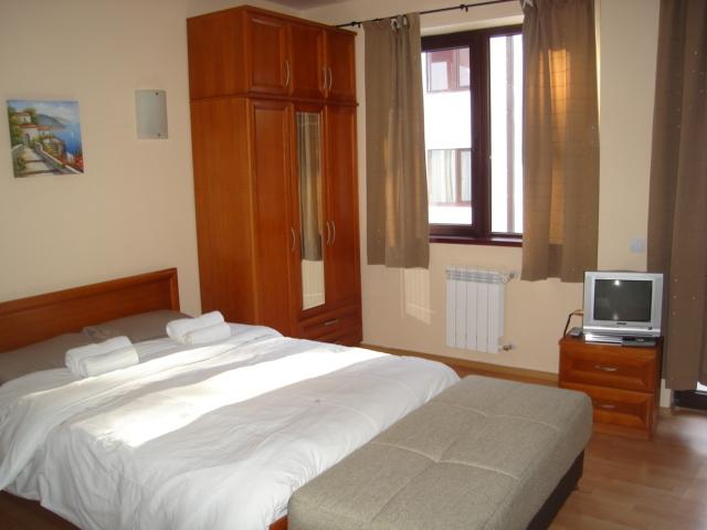 Double Bed With Floor to Ceiling Wardrobe
