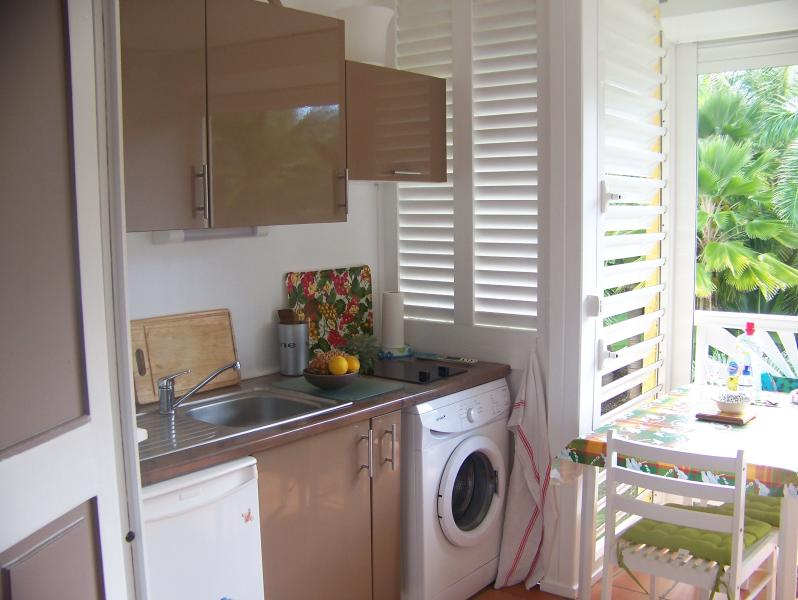 cuisine loggia  avec lave linge