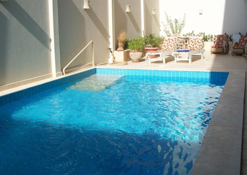 access to the pool - basement