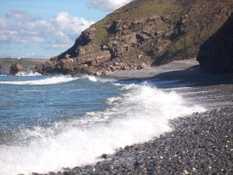 Crackington Haven durante l'alta marea