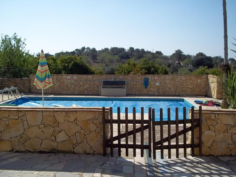 Terrace to pool area