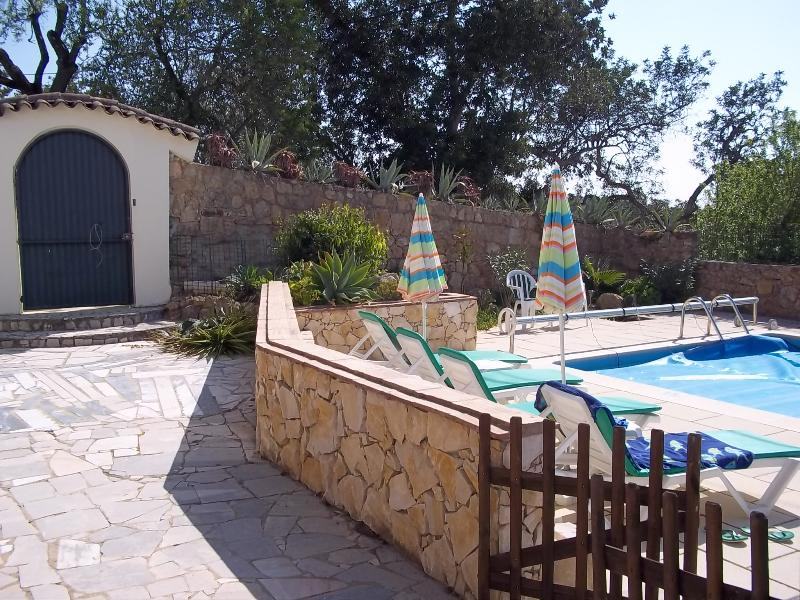 Pool area from terrace