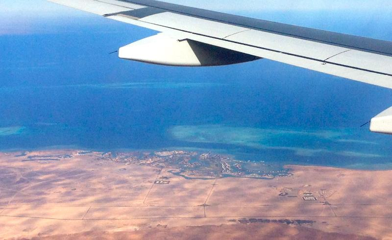 Vew of El Gouna from air