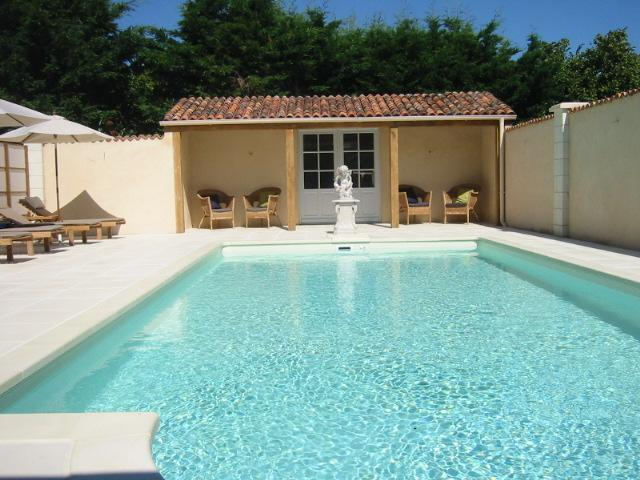 The lovely heated swimming pool Anjou Cottage Manoir de Gourin
