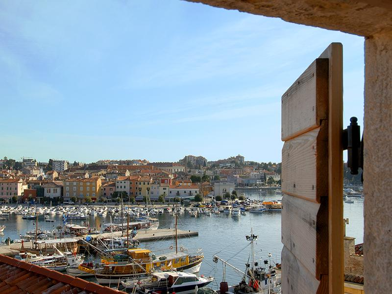 Enjoy a view over Rovinj harbour from the apartment
