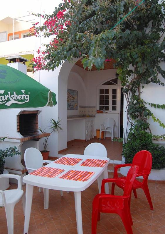 the spacious terrace with bbq
