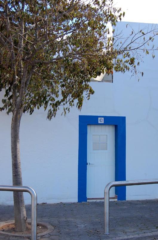 back door, but main entrance