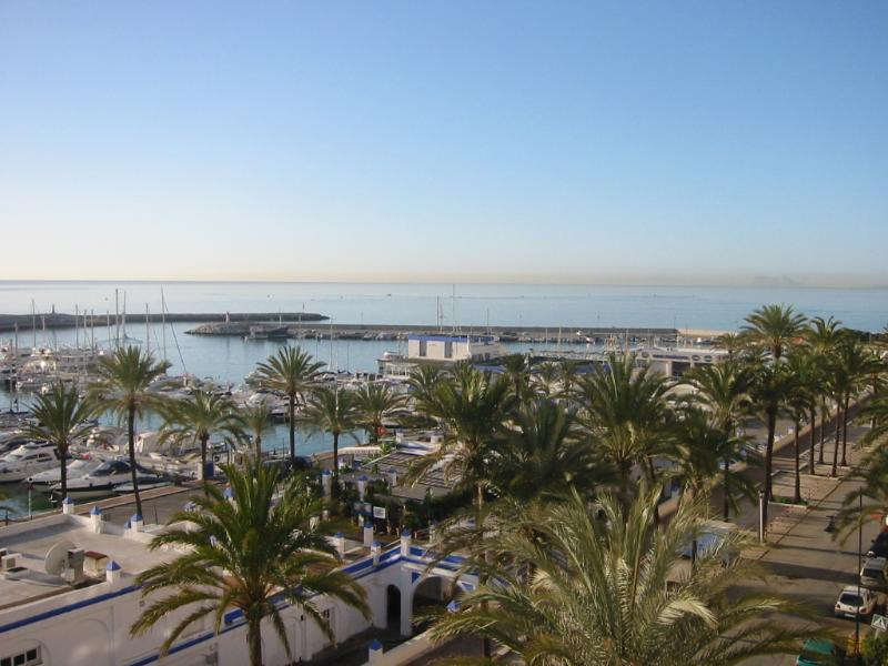 Stunning view of Estepona Marina from the balcony.