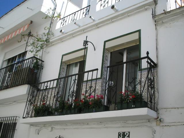 The main bedroom balcony