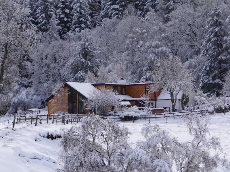 Balnacraig Lodge in mid winter