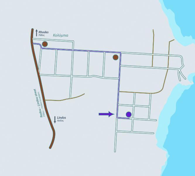 Mapa da área com a localização da vila.