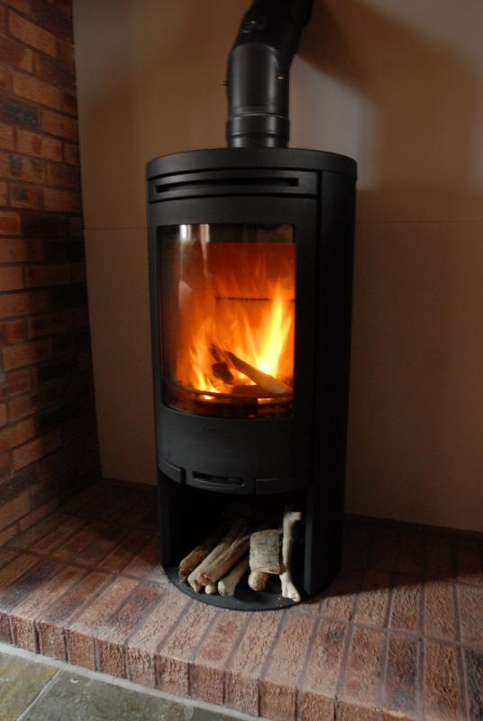 Cosy wood stove for cooler evenings