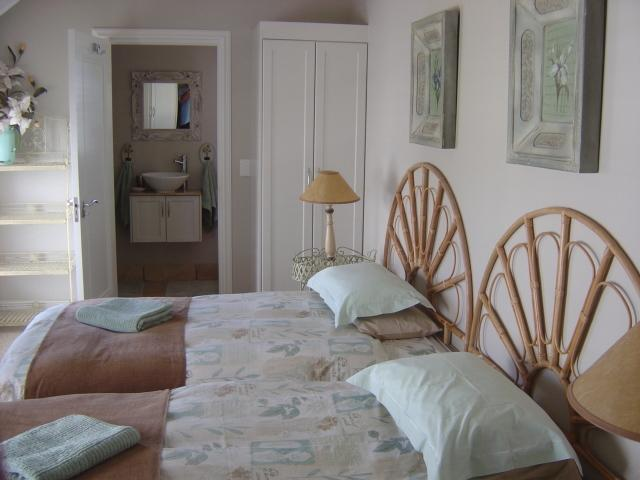 The upstairs bedroom in the main house.
