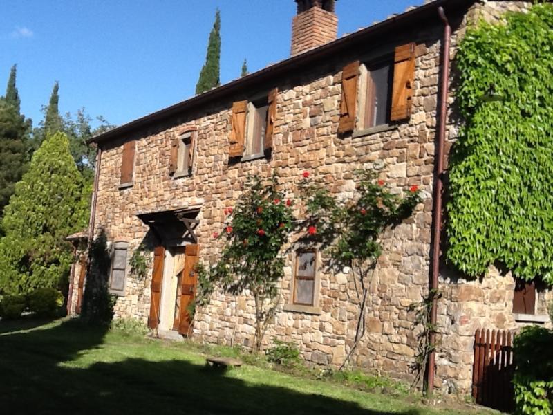 Ville Alto: peaceful Tuscan villa in the Cortona countryside, vacation rental in Piazzano