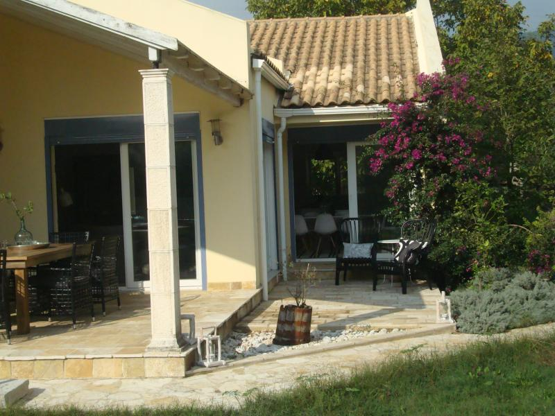 Spacious and comfortable villa in walking distance from the beach and located in Greek village.