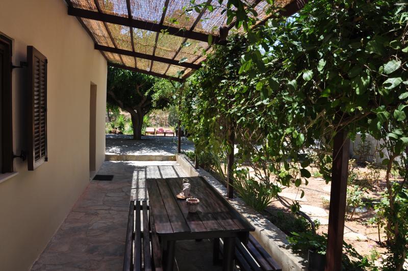 Outside of the villa