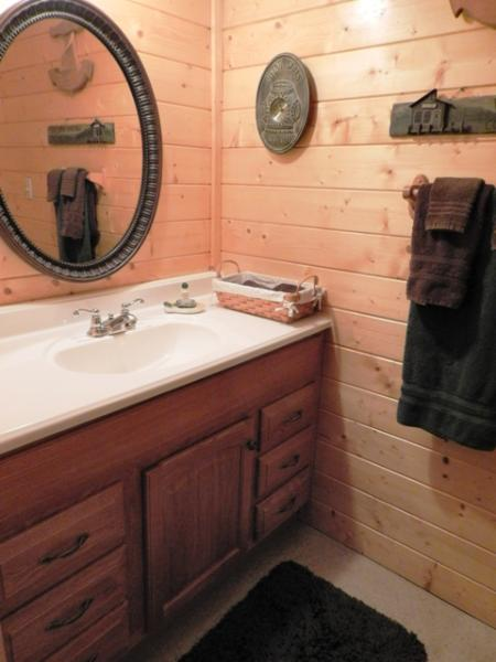 Full Bath on lower floor with tub/shower combination