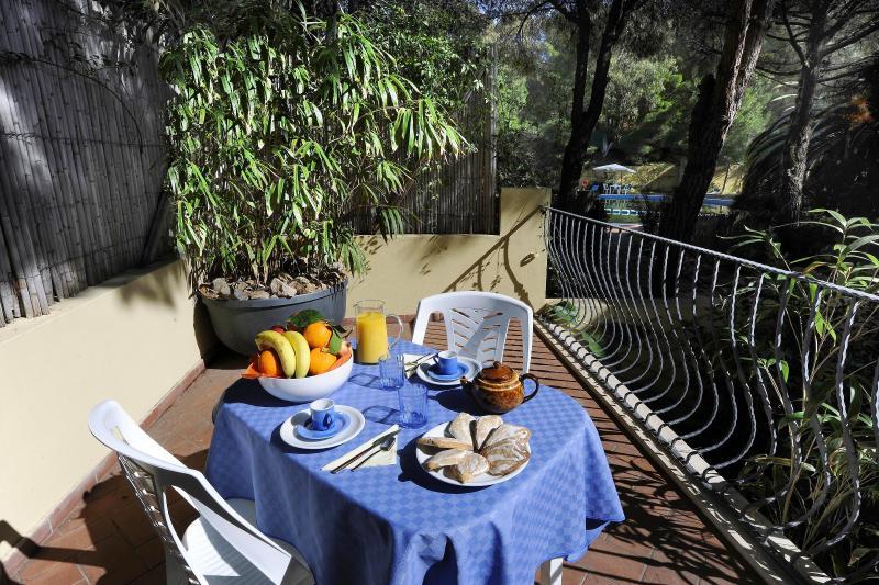 Veranda with outdoor furniture