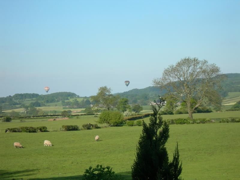 View from Burrow Meadows - Balloon rides over the Lune Valley