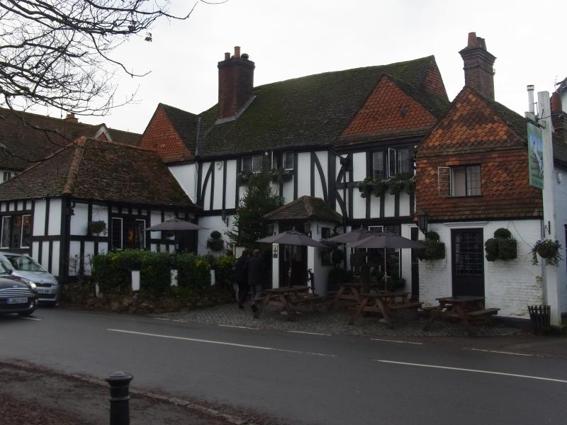 The White Horse pub in Shere