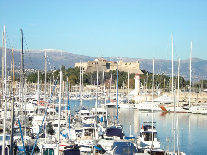 Antibes Port with Fort Carré in the background