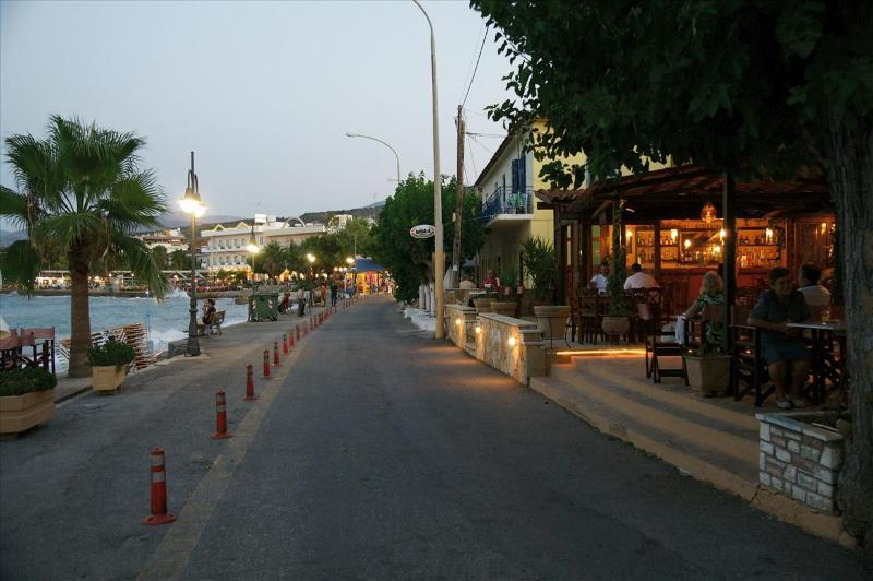 The seaside promenade in Longos in the evening,150 m from Harmony