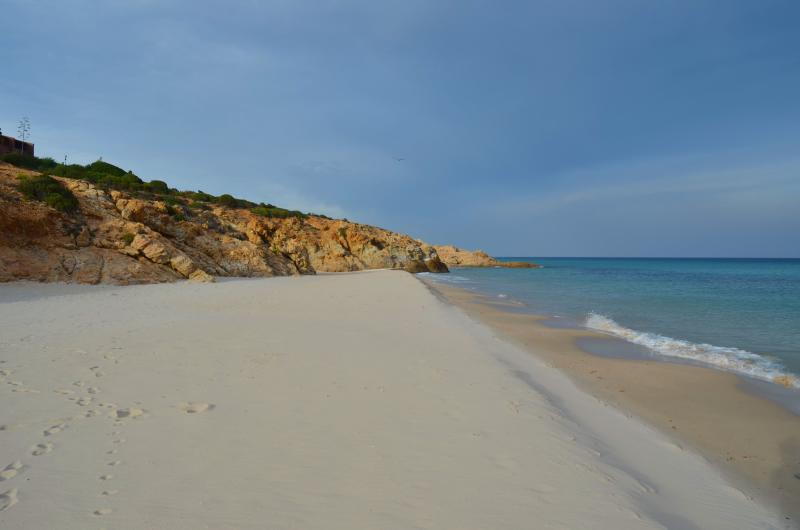 Beach 200 meters away from the apartment, with white sand and gently sloping