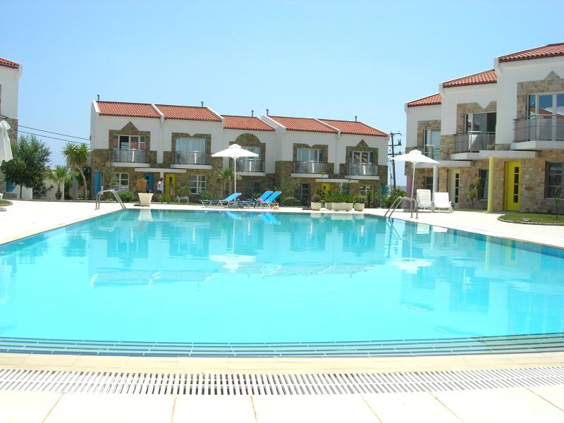 swimming pool and villas