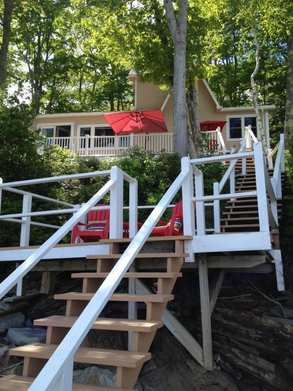 Water side of Cottage - 2 decks