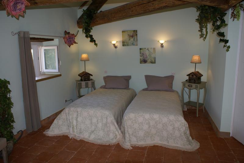 Chambre Jade ( surf: 30 m2) - 2 lits de 90 + TV écran Plat + douche à l'italienne