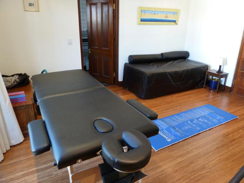 Gym showing massage table