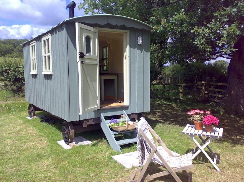 Shepherds' hut in the summer