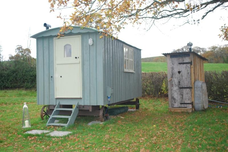 Shepherds' hut and toilet hut
