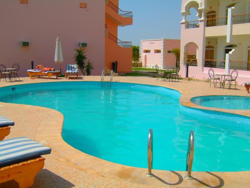 G-one terrace frontage and the quiet pool - enjoy!