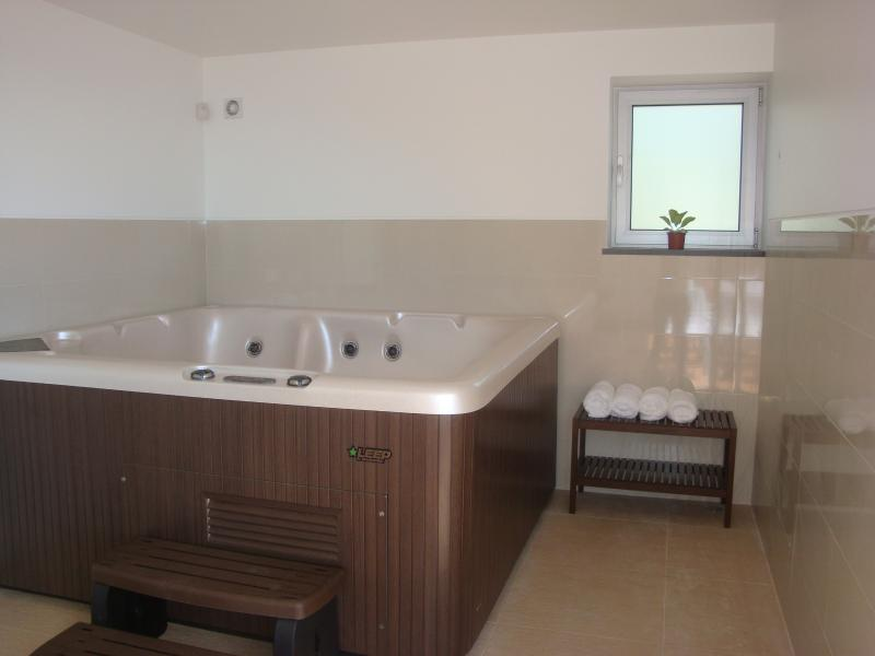 After a hard day's work sightseeing and hiking, enjoy a hot tub with sea view!