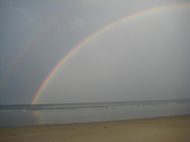 Double Rainbow over Nantasket Beach
