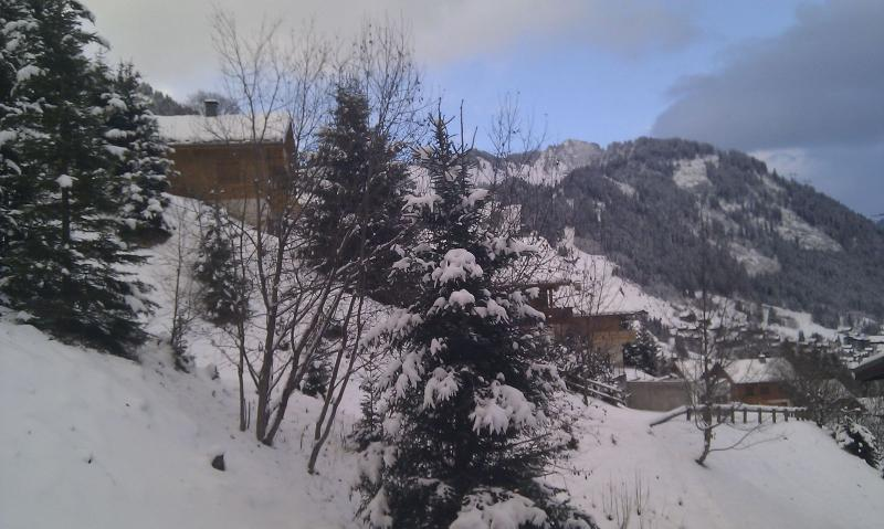 View from the balcony towards Super Chatel, no noise, just the silence of the high Alps