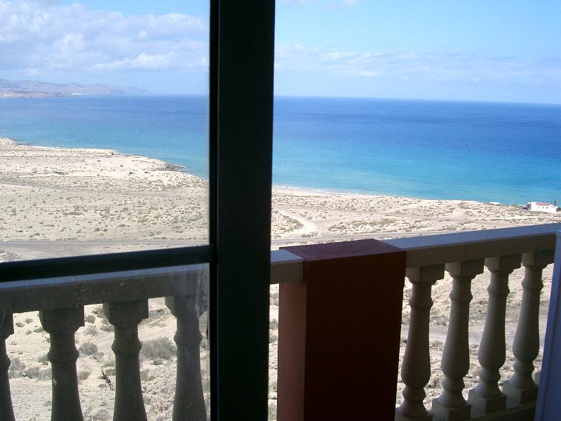 Magnificent view overlooking costa calma and playa esmeralda