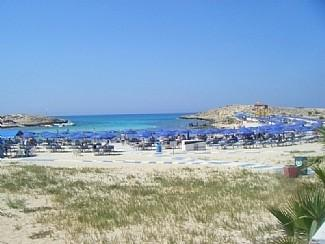 Sandy bay, our local beach - a short stroll from Villa Mespila