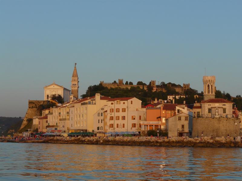 Beautiful Piran - a delightful Italian styled coastal town - an hour from Hilltops