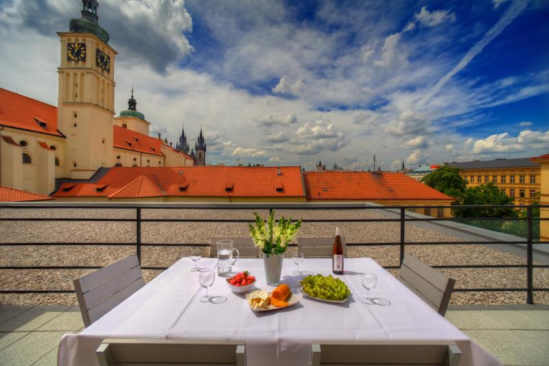 Terrace with panoramic city views