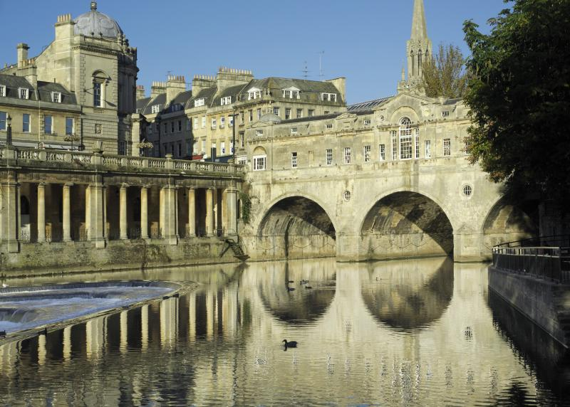 Make a visit to Great Pulteney Street, walk over the Pulteney Bridge and enjoy the view of the Weir.