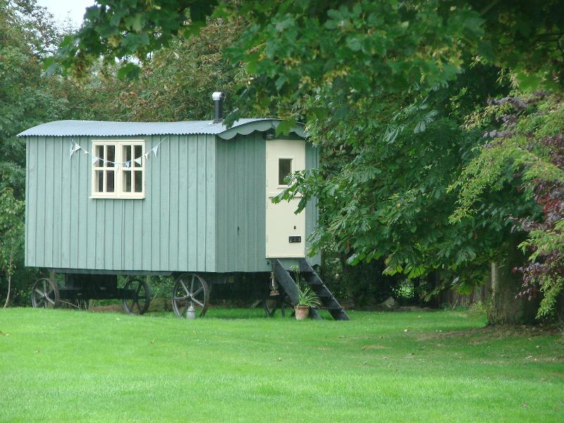 The view as you approach the shepherds hut