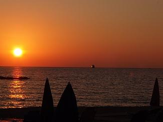 Typical Paphos harbour sunset