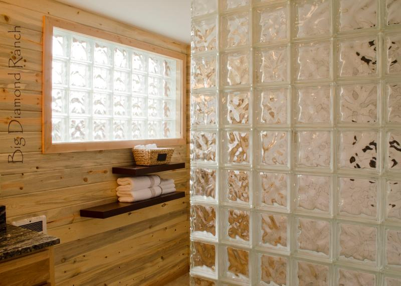 Convenient and roomy walk-in shower