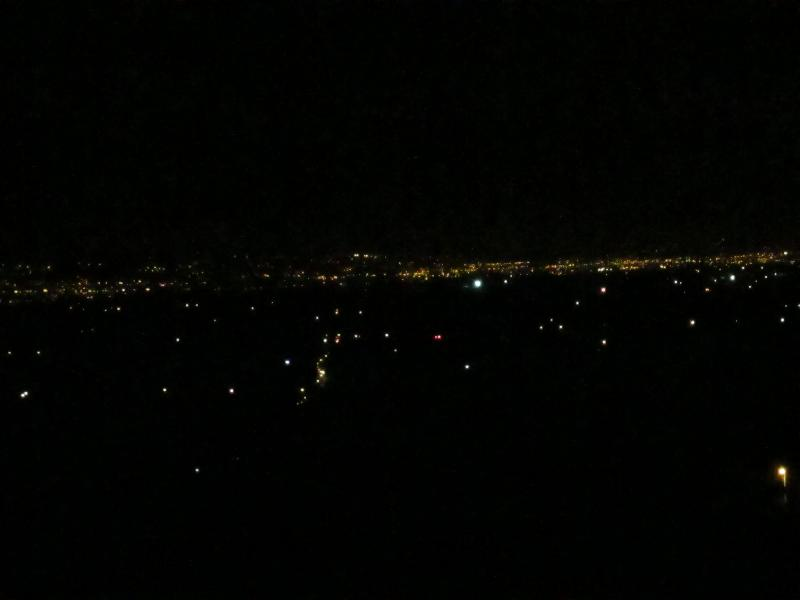 The Central Valley at night
