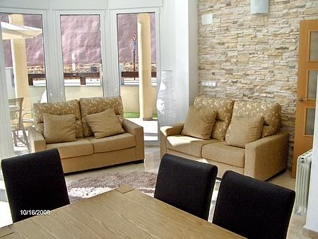 Contemporary lounge and dining area