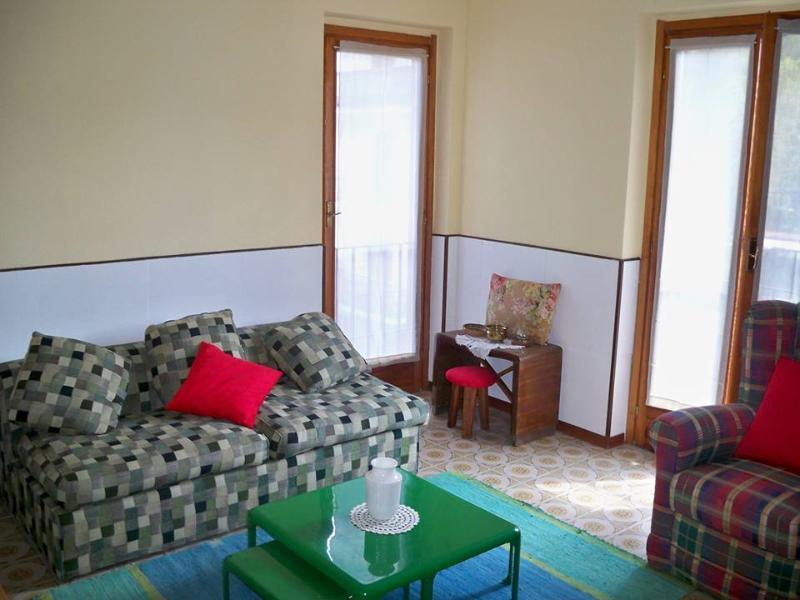 Il soggiorno e il divano letto