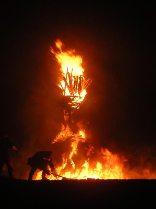 Burning the Clavie, 11 January each year